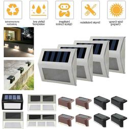 1/2/4Pc Solar LED Outdoor Step Bright Lights Set Wall Pathwa