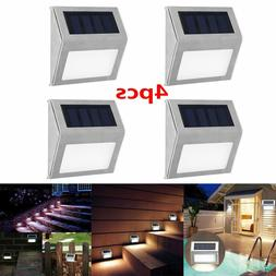 1-4PCS 3 LED Solar Powered Outdoor Step Deck Lights for Fenc