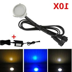 10pcs/set 31mm 12V Outdoor Garden Stair Path Flat In LED Dec