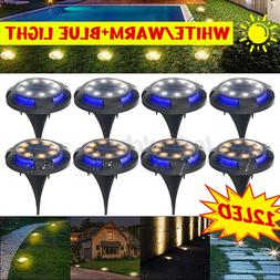12LED Solar Power Buried Light Under Ground Lamp Outdoor Law