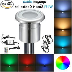 20XSmart Wifi 28mm 12V RGB Outdoor Yard Stainless LED Deck S