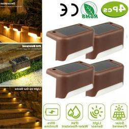 4Pack Solar Powered LED Deck Lights Outdoor Path Garden Stai