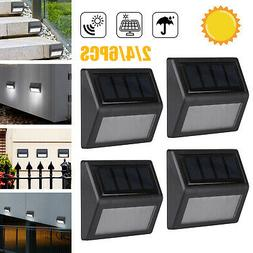 4PCS Solar 6LED Stainless Steel Garden Pathway Patio Step St