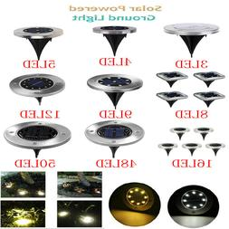 4X 4-50LED Solar Buried Light Under Ground Lamp Outdoor Path