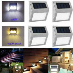 6PACK Solar Power LED Deck Light Outdoor Path Garden Stairs
