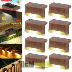 8PCs Solar LED Bright Lights Safety Light for Pathway Drivew