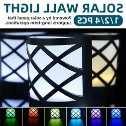 Fence Color Changing Solar Fence Wall Lights Outdoor Waterpr
