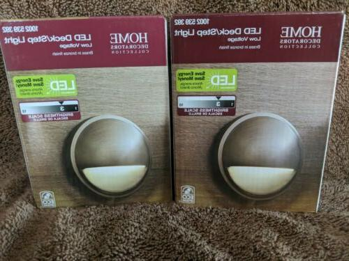 2 x collection led deck step light