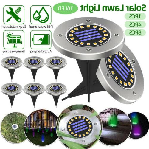 solar lights color changing ground buried garden