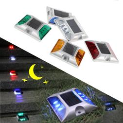led solar powered step road light fit