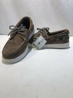 Island Surf Light Tan Boat Shoes Sailing Deck Loafers Lace U
