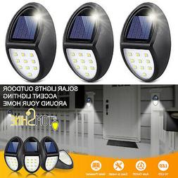 LOT Tomshine 10LED Solar Power Wall Light Security Outdoor G