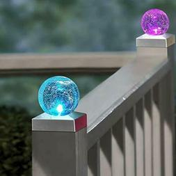 Outdoor Solar Lights Color Changing Fence Post Cap Light 4X4