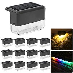 CHINLY Solar Deck Lights 12-Pack Outdoor Waterproof led, War