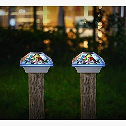 HAVEONE Solar Post Lights Outdoor Light for Fence Deck or Pa