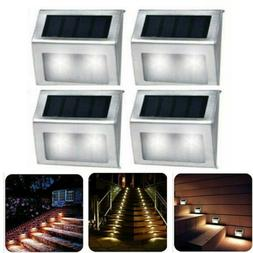 Solar Power LED Deck Lights Outdoor Pathway Garden Stairs St