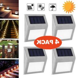 Solar Power LED Deck Lights Pathway Garden Stairs Step Fence