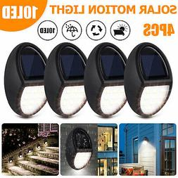 Solar Powered 10 LED Deck Lights Outdoor Path Garden Stairs