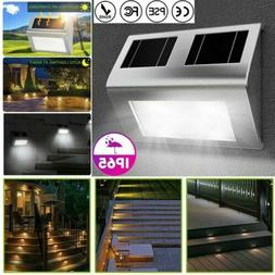 Solar Powered 6 LED Door Fence Deck Pathway Wall Lights Outd