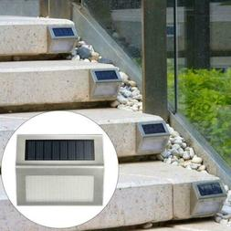 Solar Powered LED Deck Light Step Stairs Patio Fence Lamp St