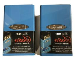 Two  Ultra Pro Satin Tower Deck Box - Light Blue - NEW - Fre